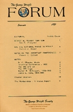 Cover, vol. 1, no. 1